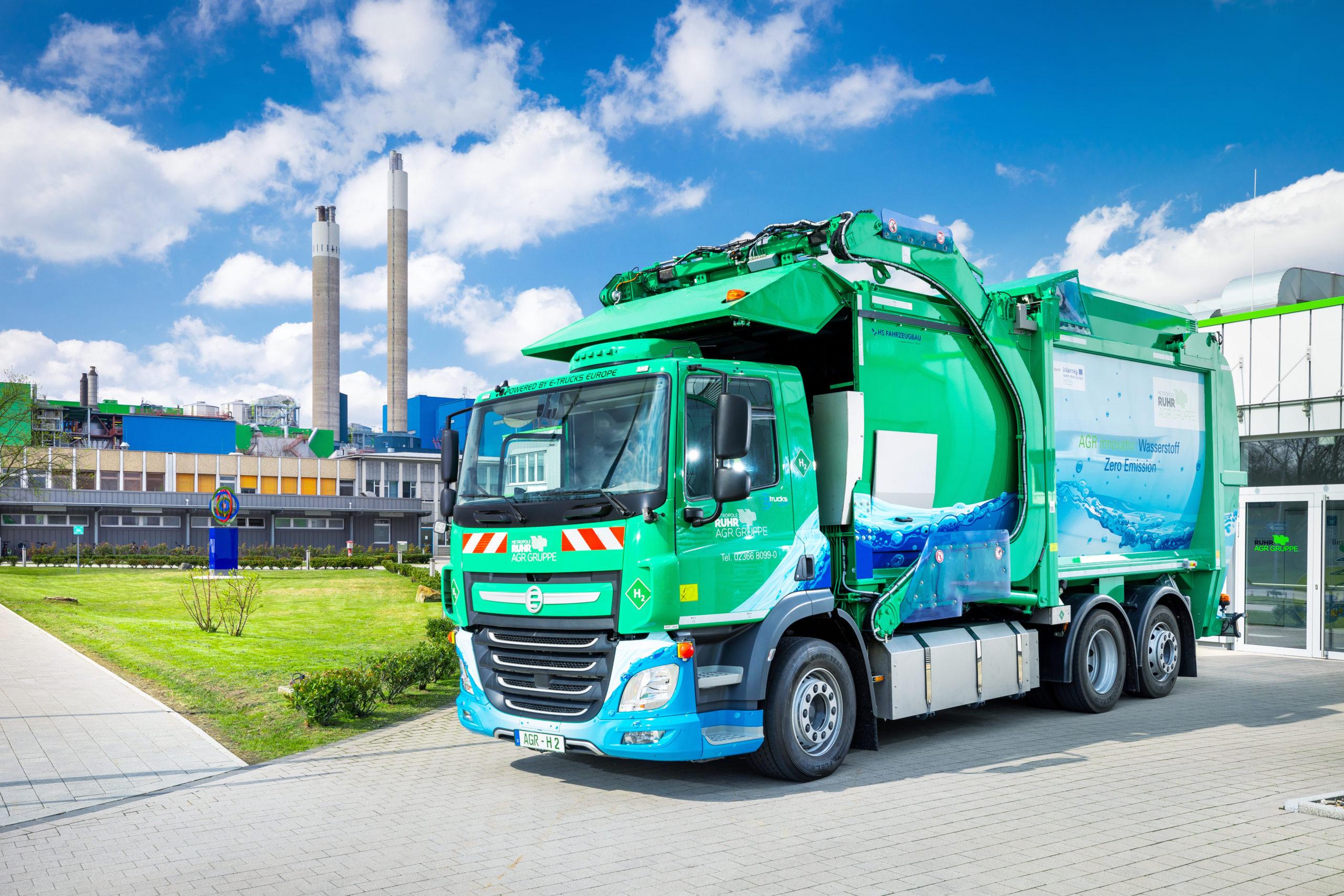 Emissionsfrei durchs Revier: AGR stellt neues Wasserstoff-Abfallsammelfahrzeug vor